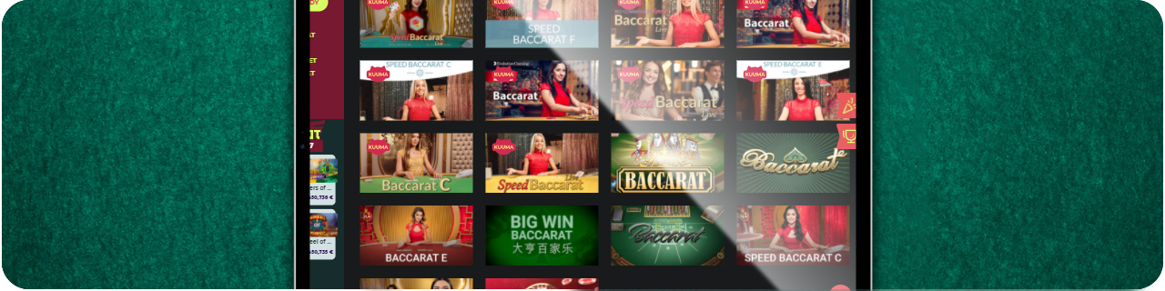 online casino with baccarat