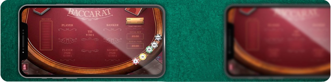 mobile casinos with baccarat