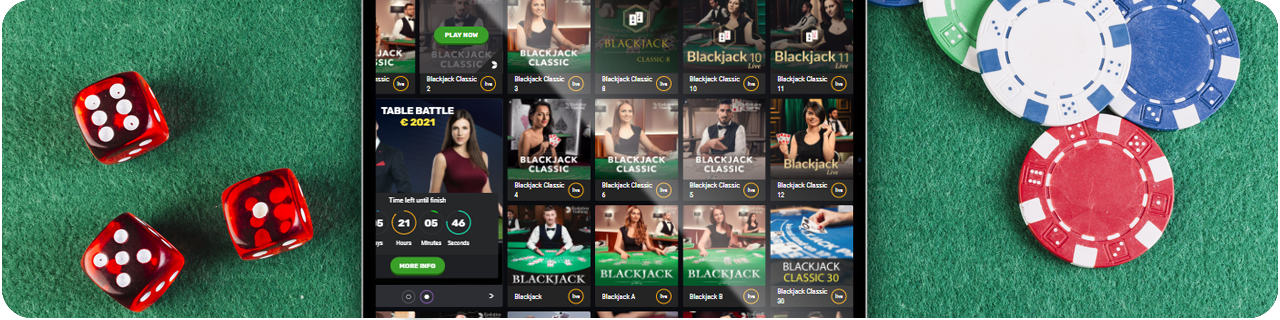 Blackjack on Smartphone