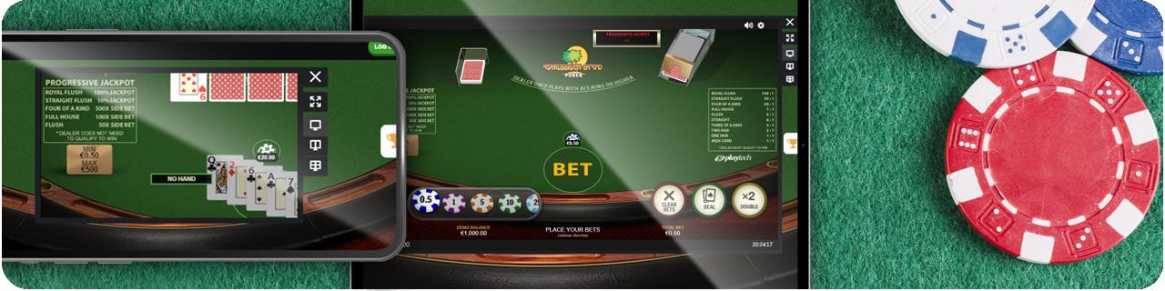video poker on smartphone