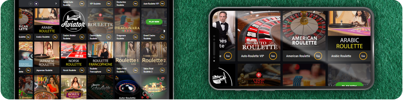 mobile casinos with roulette